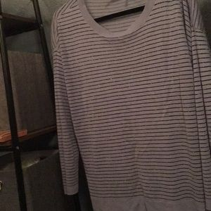 Acrylic sparkling striped top